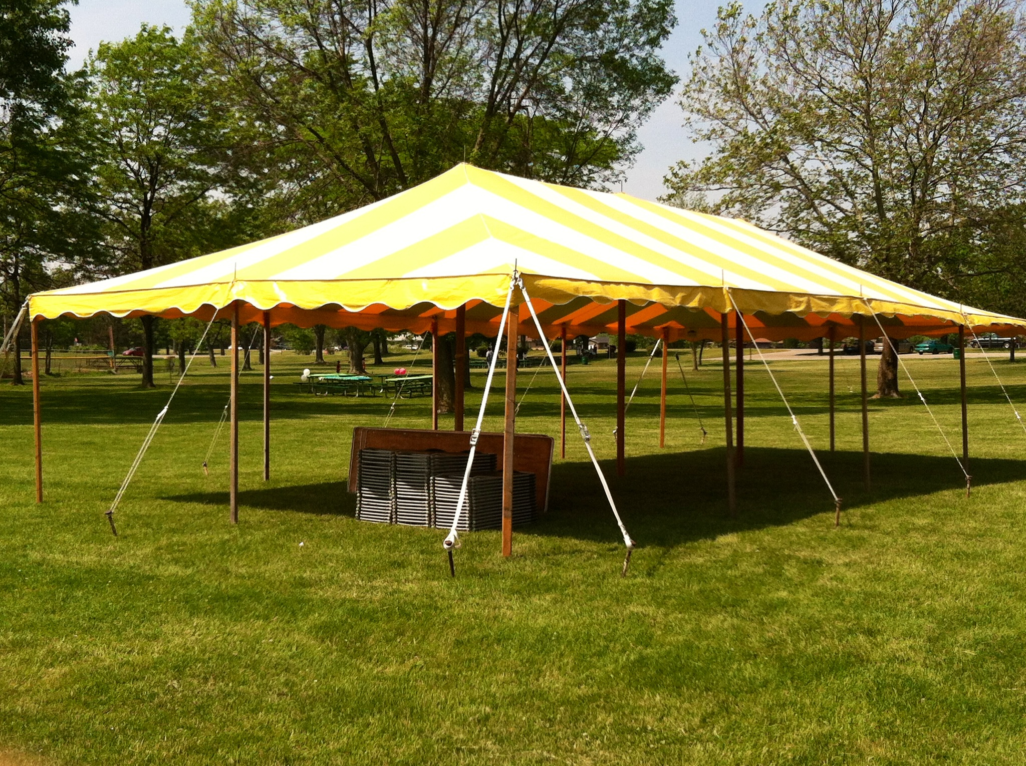Regular Peak Striped Tension Tents & Regular Peak Striped Tension Tents | Grand Rapids Tent Rentals