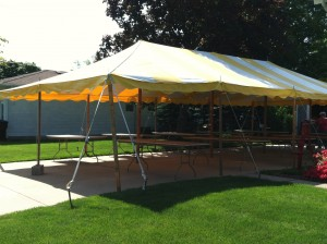 20x40 yellow & white tent