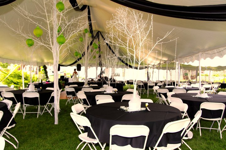 round-tables-2. This is under a 30 x 60 ... & Tall Peak White Tension Tents | Grand Rapids Tent Rentals