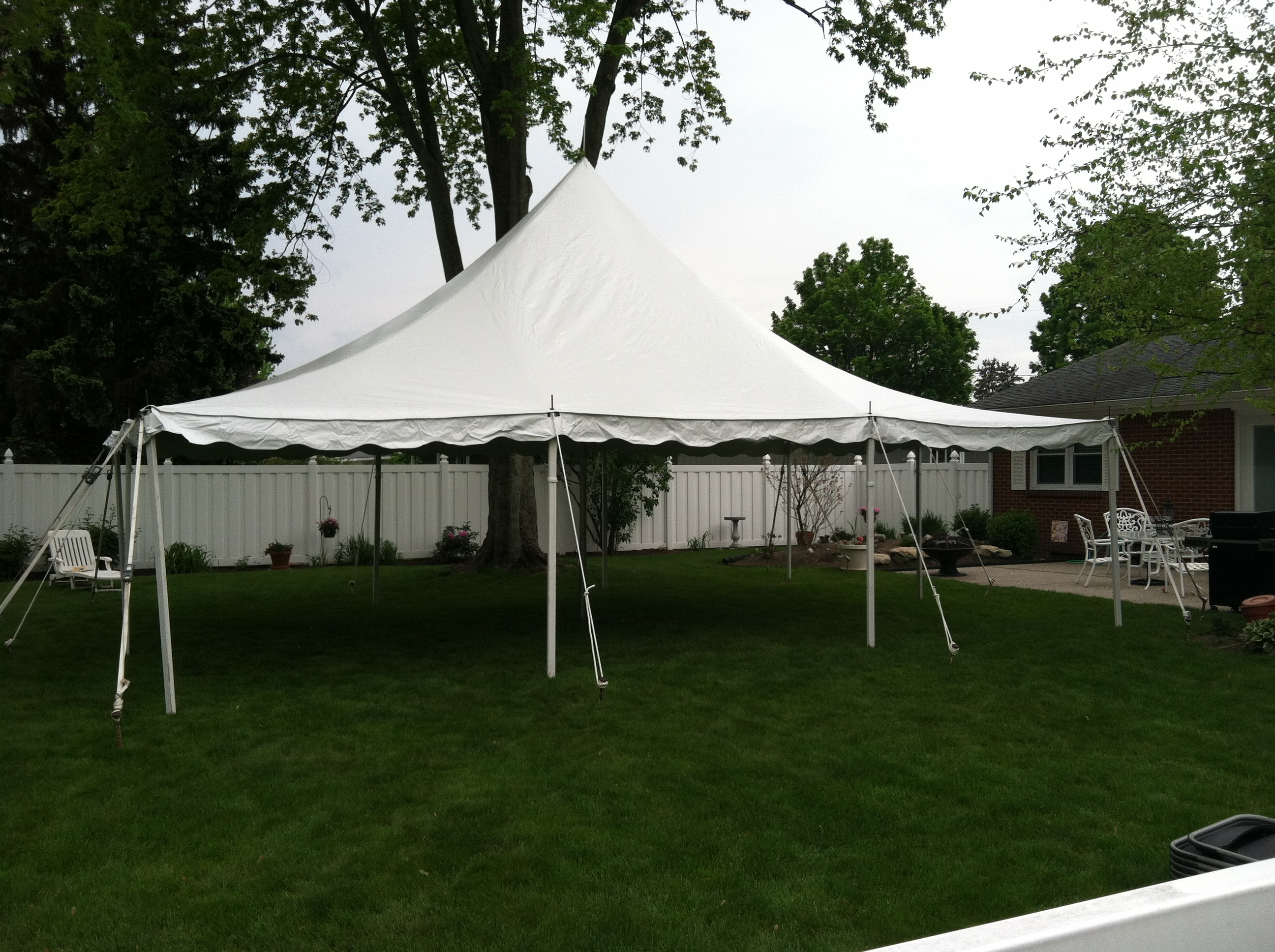 Tall Peak White Tension Tents & Tall Peak White Tension Tents | Grand Rapids Tent Rentals