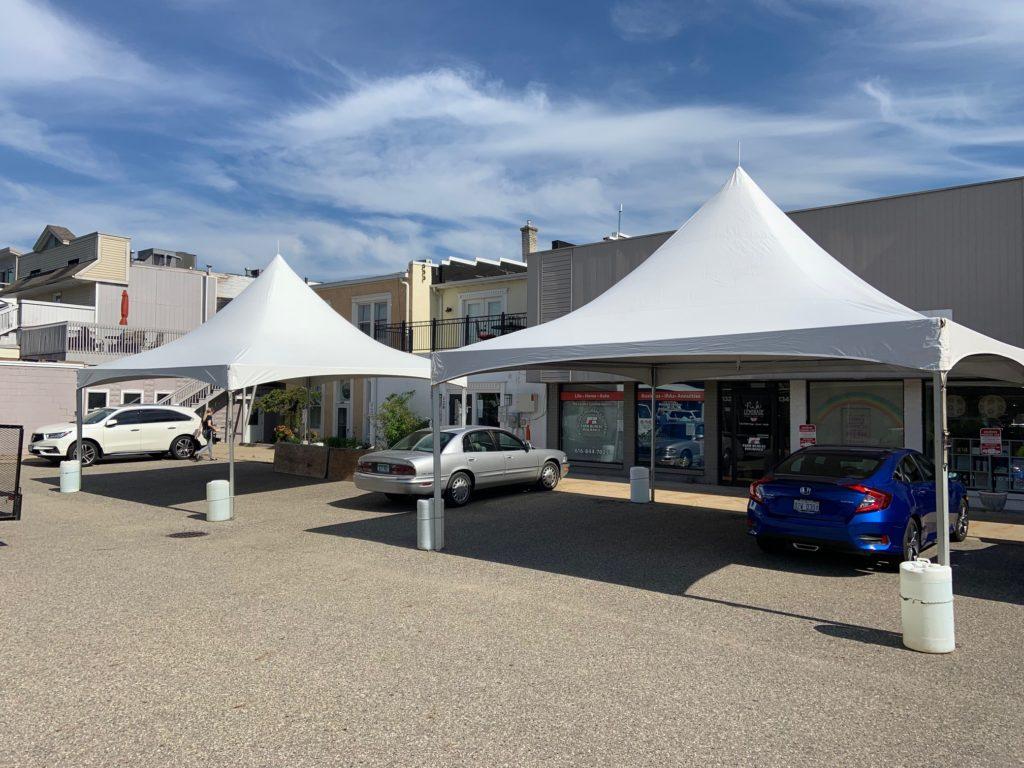 20 x 20 White Frame Tents