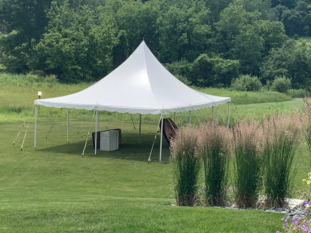 20 x 30 White Tension Tent (single pole)
