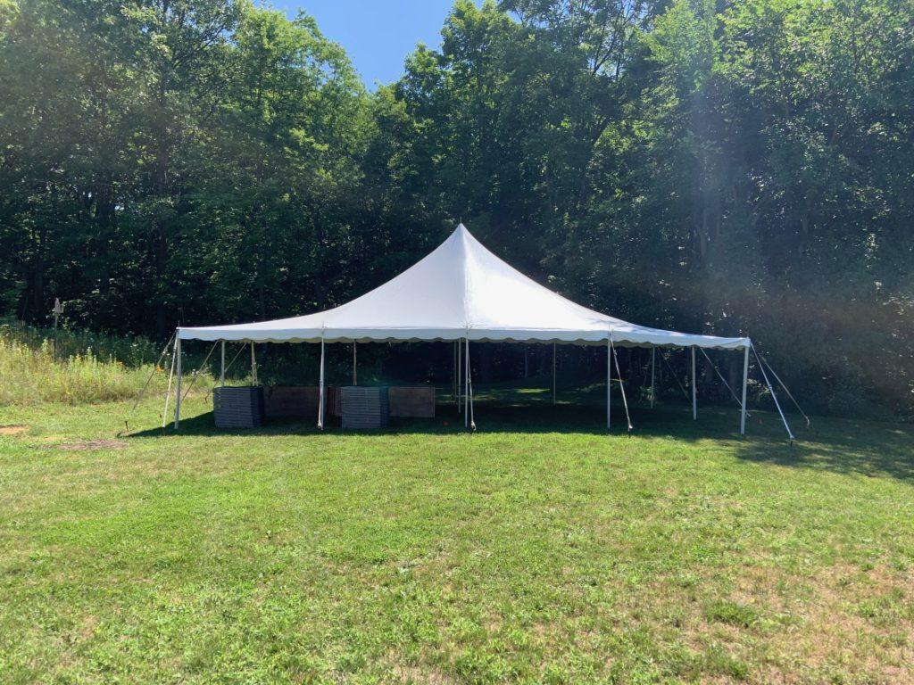 20 x 40 White Tension Tent (single pole)