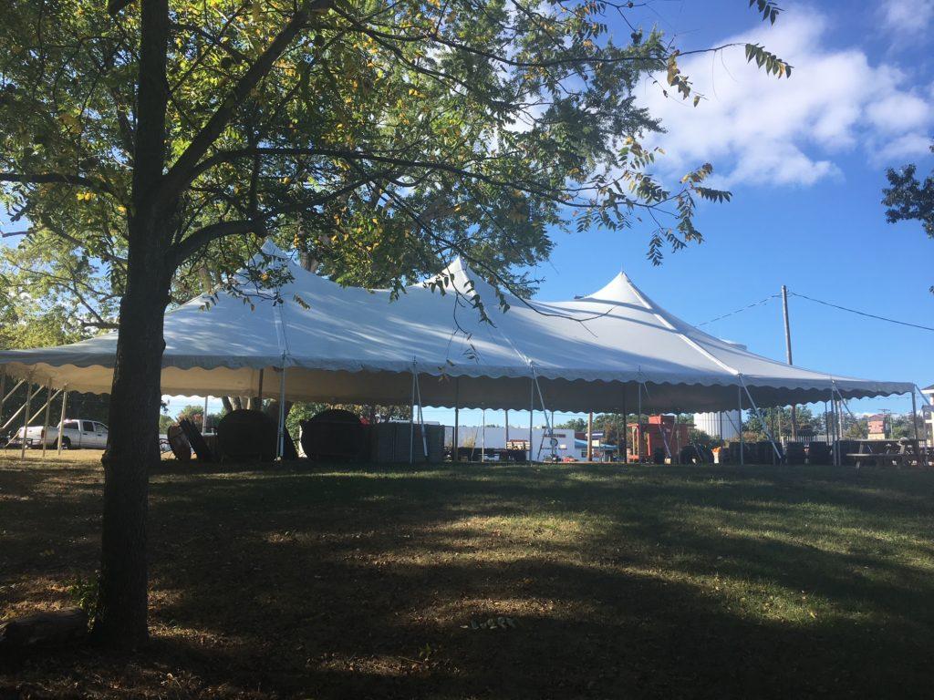 40 x 80 White Tension Tent